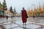 Shwedagon pagoda yangon, myanmar içinde — Stok fotoğraf