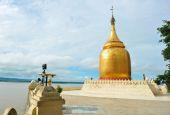 Goldenen Stupa Bu Paya Pagode — Stockfoto