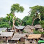 Typical village scene of local Burmese — Stock Photo #70105571