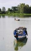 Рыбацкая лодка на реке Меконг — Стоковое фото