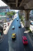Traffic on the street in Bangkok — Stock Photo