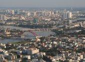Development of modern city — Stock Photo