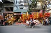 Lanscape of a street market in Hanoi — Стоковое фото