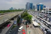 Silom Line Skytrain — Stockfoto