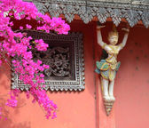 Decoration of Khmer temple in Vietnam — Stock Photo