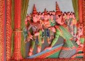 Украшением кхмерский храм в Вьетнам — Стоковое фото