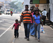 People walking on street in Colombo — Stock Photo