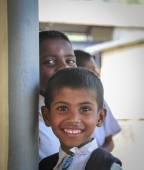Group of Sri Lankan school students — Stockfoto