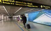 Passengers at Don Muang Airport — Stock Photo