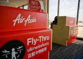 Check-in counter of AirAsia — Stock Photo