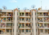 Modern buildings at Yangon downtown — Stock Photo
