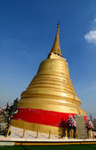 Golden stupa at Golden Mount in Bangkok — Stock Photo