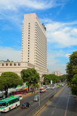Modern buildings at Yangon downtown — Stock Photo