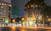 Scene of night life at Saigon — Stock Photo