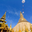 Top of golden stupa at Shwedagon pagoda — Stock Photo #76262287