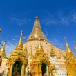 Top of golden stupa at Shwedagon pagoda — Stock Photo #76263013