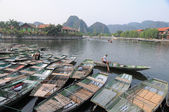 Vietnamese boats on the river — Stock Photo