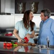Couple cooking in the  kitchen — Stock Photo #71401063