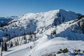 View at ski station — Stock Photo