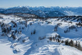 View at ski station — Stockfoto
