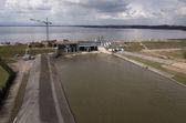 Dam reconstruction — Stock Photo