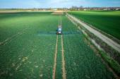 Aerial view of the tractor — Stock Photo