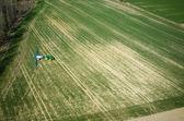 Luftbild des Traktors — Stockfoto