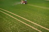 Aerial view of the tractor — Foto Stock
