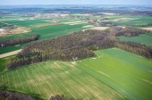 Aerial view of the field — Stock Photo