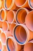 Sewage pipes — Stock Photo