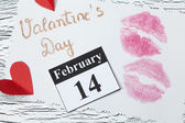 February 14, Valentine's day, heart from red paper — Stock Photo