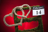 February 14, Valentine's day, red heart — Stock Photo