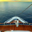 Cruising on ocean liner, pov from the deck — Stock Photo #62899981
