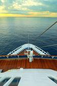 Cruising on ocean liner, pov from the deck — Stok fotoğraf