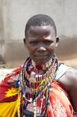 Young Maasai woman — Stock Photo