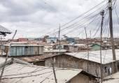 View of Kibera, largest slum in Africa — Stock Photo