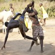Постер, плакат: South Sudanese wrestlers