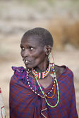 Older Maasai woman — Stock Photo