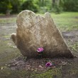 Ancient tombstone with room for name — Stock Photo #63323909