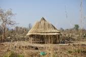 Hut being built, South Sudan — Stock Photo
