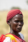 Woman with scarification — Stock Photo