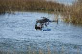 Uav over water — Stock Photo
