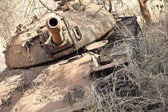 Destroyed tank in South Sudan — Stock Photo