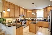 Beautiful upscale kitchen — Stock Photo