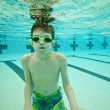 Boy swimming underwater — Stock Photo #63426313