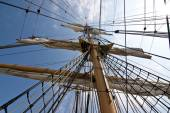 Tall ship rigging — Stock Photo
