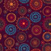 Floral seamless pattern with ornate doodle flowers. — Vetorial Stock