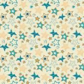Pobieżne gwiazdy bez szwu powtórzyć wzór ilustracja — Wektor stockowy