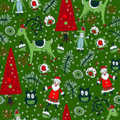 Christmas seamless pattern with xmas toys — Stock Vector