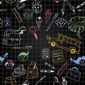 Vector schoolbord school naadloze patroon. — Stockvector